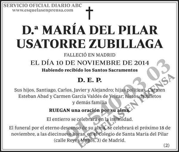 María del Pilar Usatorre Zubillaga